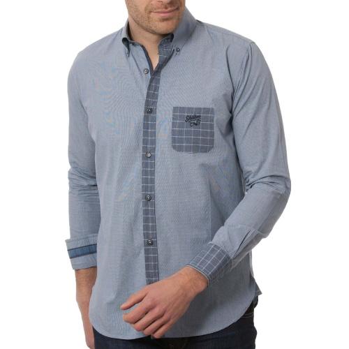 Chemise poche carreaux