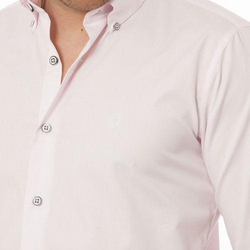 Chemise ML revers points