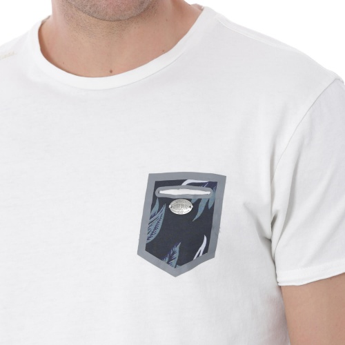 T-Shirt Flower Pocket fantaisie