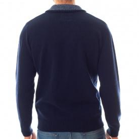 Pull col châle laine