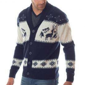 Cardigan montagne 100% laine