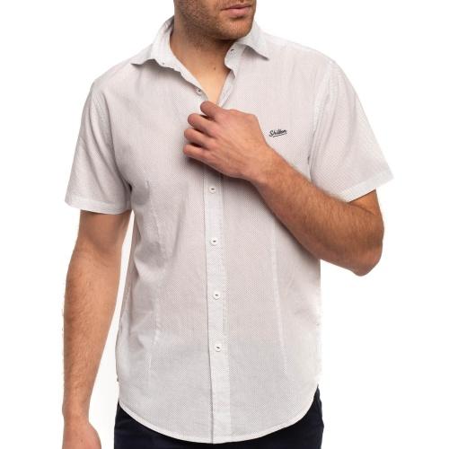 Chemise à pois imprimés
