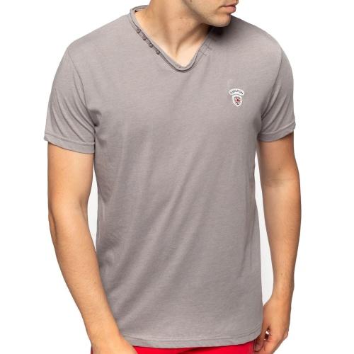 T-shirt col boutons