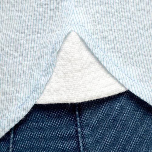 Chemise à rayures gaufrée