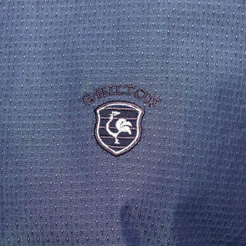 Chemise petits motifs tissés