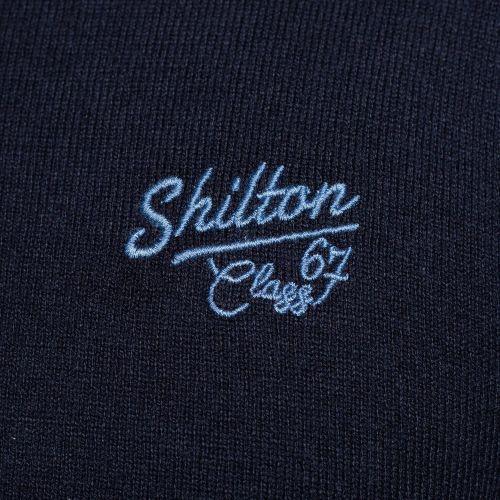 Pull col V coton laine