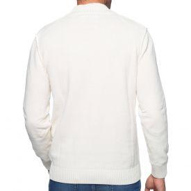 Pull col zippé coton chenille