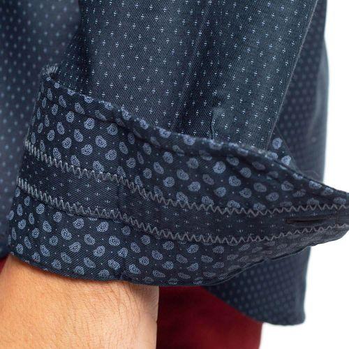 Chemise imprimée aspect soie
