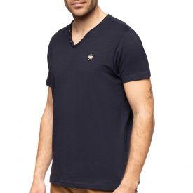 T-shirt col v slub
