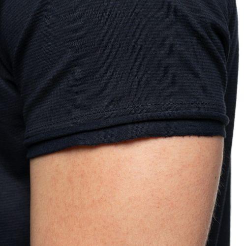 T-shirt rayé col rond boutons