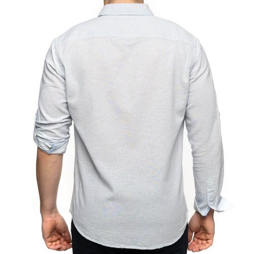 Chemise rayée coton lin