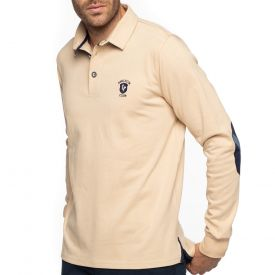Polo rugby beige coudières