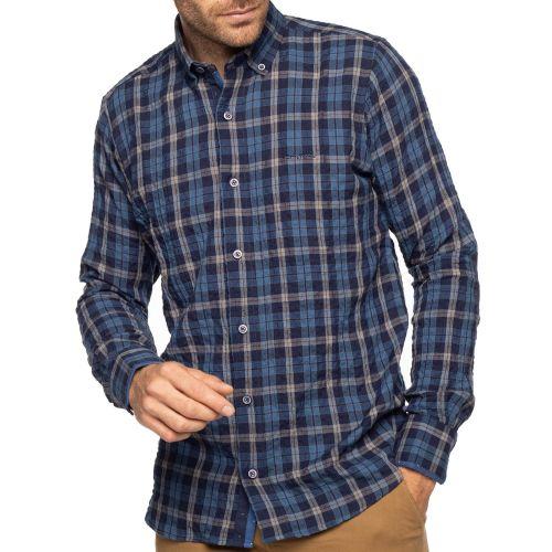 Chemise à carreaux gaufrée