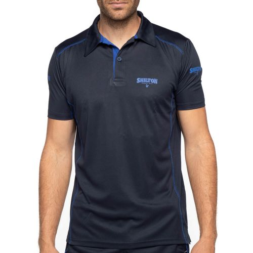 Vue de face polo sport navy