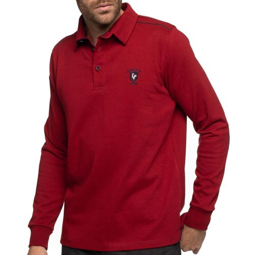 Polo rugby jersey rouge coudières