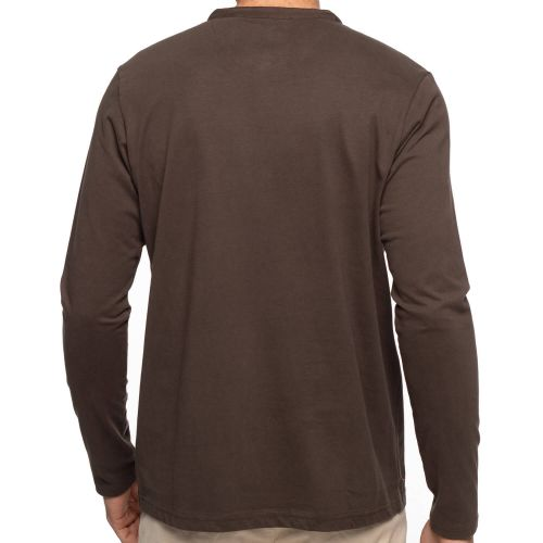 T-shirt col tunisien chambray