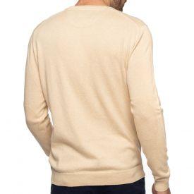 Pull col v coton cashmire