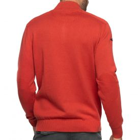 Pull col zippé coton cashmire