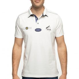 Polo blanc rugby south vintage