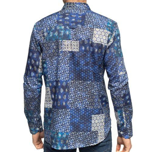 Vue de dos chemise patchwork