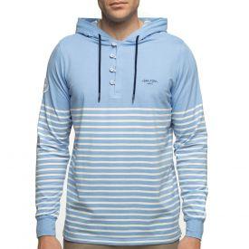 T-shirt capuche ciel marinière