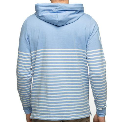 Dos t-shirt capuche marinière