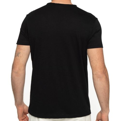T-shirt V boutons