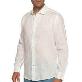 Chemise en lin authentique blanc