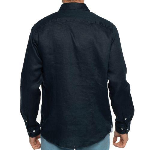 Vue de dos chemise lin