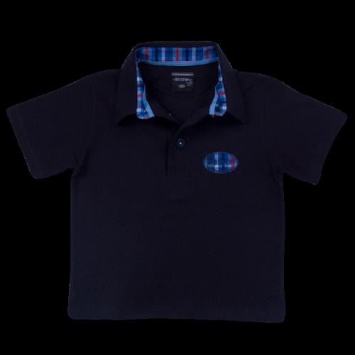 Polo Basique avec Logo Rayé Manches courtes pour Enfant