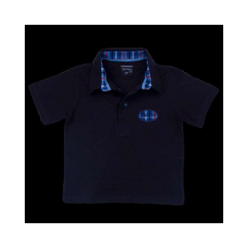 3a0b46de520cb Polo Basique avec Logo Rayé Manches courtes pour Enfant. Loading zoom