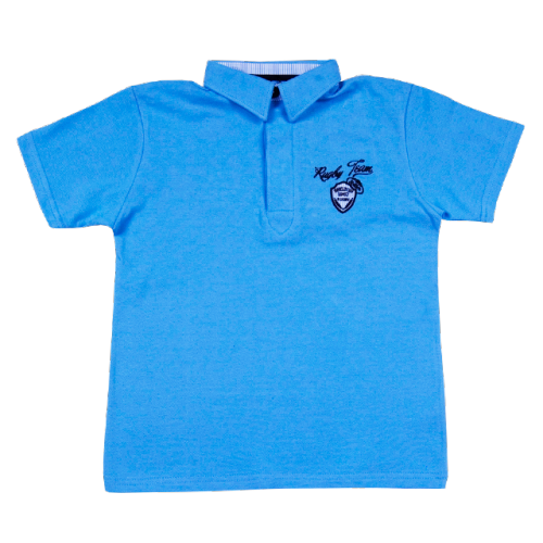Polo face avant little blue