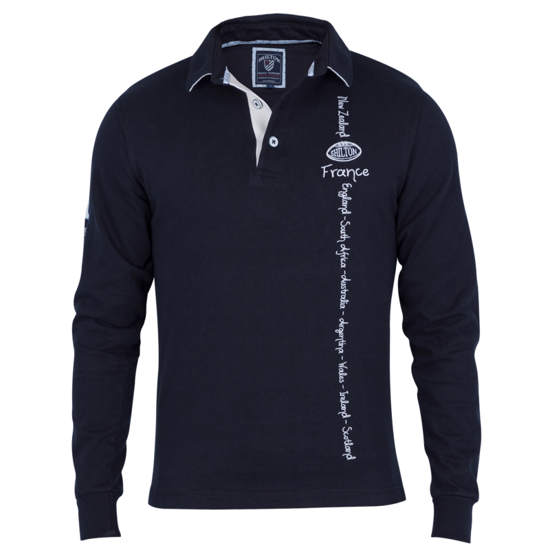 Shilton Polo Rugby Nations - Couleur - Rose, Taille - XL