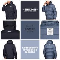 La doudoune réversible est disponible de la taille S à la taille 5XL ! Foncez sur le site shilton.fr 🛍